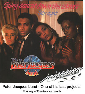 Peter Jacques band in 1985